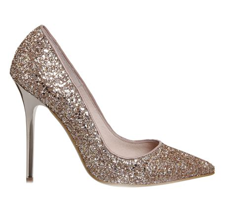 High Heels Gliter Rra Gold office on to point court heels gold glitter high heels