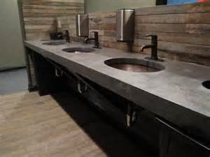 concrete counter tops in decorative concrete