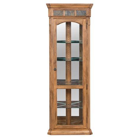 designs sedona corner curio cabinet in rustic oak