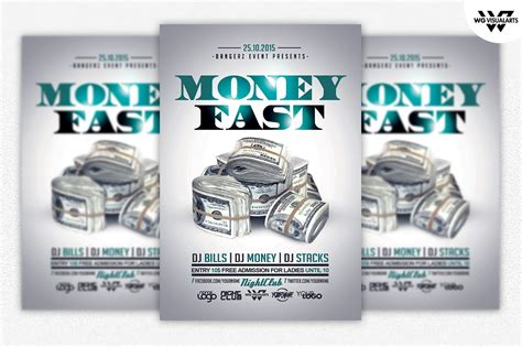 Money Rich Flyer Template Flyer Templates On Creative Market Money Flyer Template