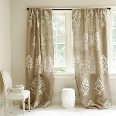 Burlap Drapes And Curtains The Grey Cottage Burlap Curtains
