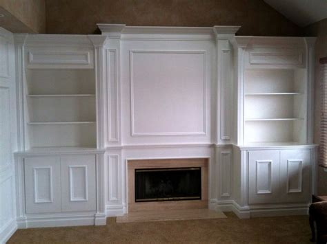 Built In Shelves Around Fireplace by Diy Built In Bookshelves Around Fireplace For The Home