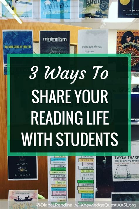 your life student 3 ways to share your reading life with students knowledge quest