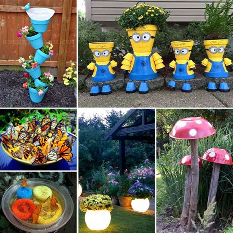 Gardening Craft Ideas with 20 Best Crafts For The Garden One Project