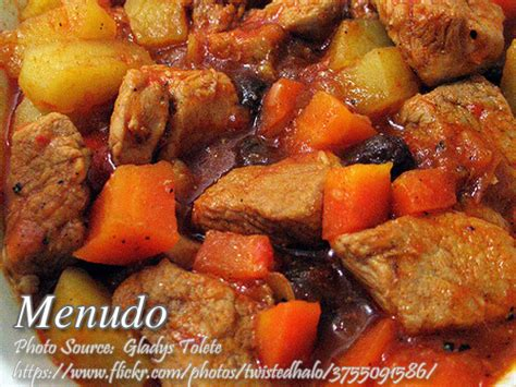 printable pinoy recipes pork menudo recipe panlasang pinoy meat recipes