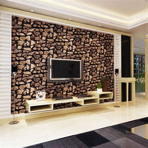 Living Room With Brick Effect Wallpaper 3d Wallpaper Luxury Vintage Brick Effect Wallpaper