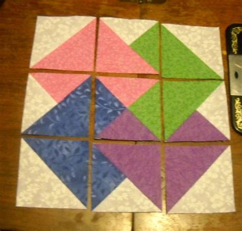 Card Trick Quilt Pattern Free by Tutorial Card Trick Quilt Block Made With Shortcut