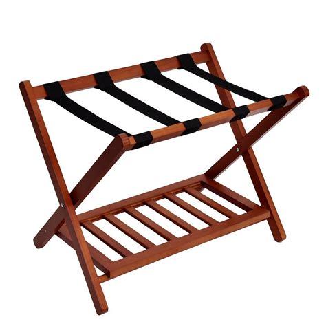 Folding Luggage Rack With Bottom Shelf by Welland Industries Llc Wood Folding Luggage Rack Wayfair Ca