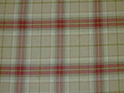 checked upholstery fabric uk wool tartan plaid red beige check fabric curtain