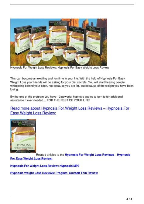 weight loss 4 reviews hypnosis for weight loss reviews hypnosis for easy weight