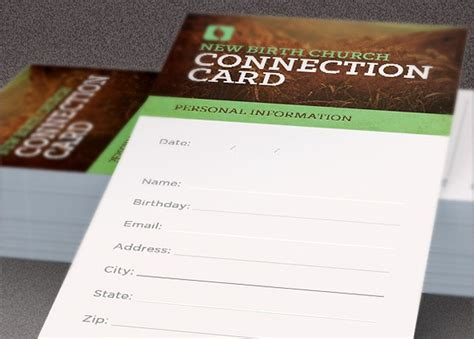 connection cards free template 8 church connection card templates