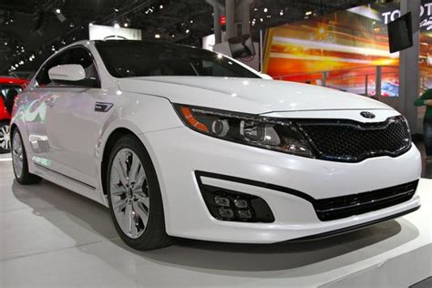 2014 White Kia Optima 2014 Kia Optima Sx Turbo White Top Auto Magazine