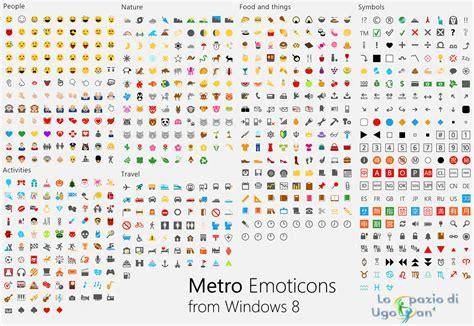 Emoji For Windows | original metro style emoji from windows 8 rtm by ugosan on