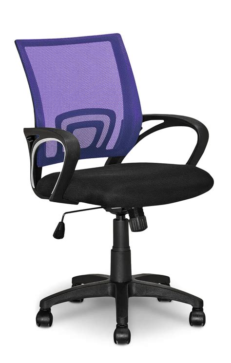 loft mesh office chair purple united furniture warehouse