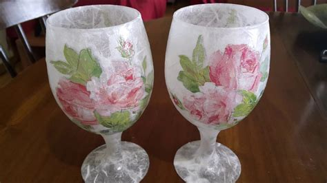 decoupage for beginners decoupage on glass for beginners ντεκουπαζ σε γυαλι
