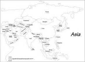 printable asia map with country names asia map black and white αναζήτηση maps asia map and geography