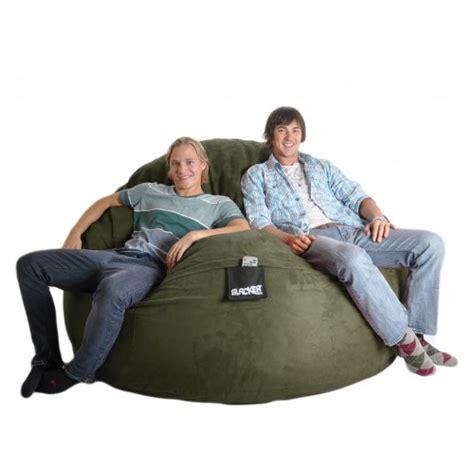 Slacker Bean Bag 6 Olive Green Foam Beanbag Chair Slacker Sack
