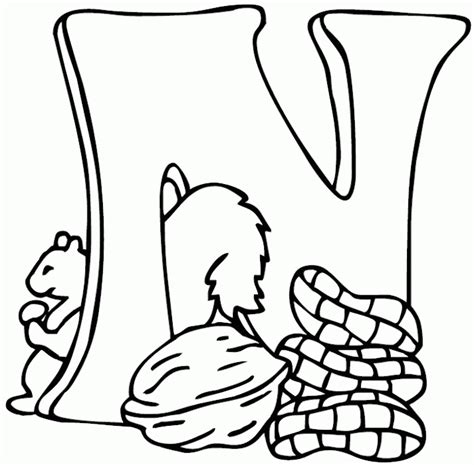 N Coloring Pages Preschool | letter n coloring pages preschool coloring home