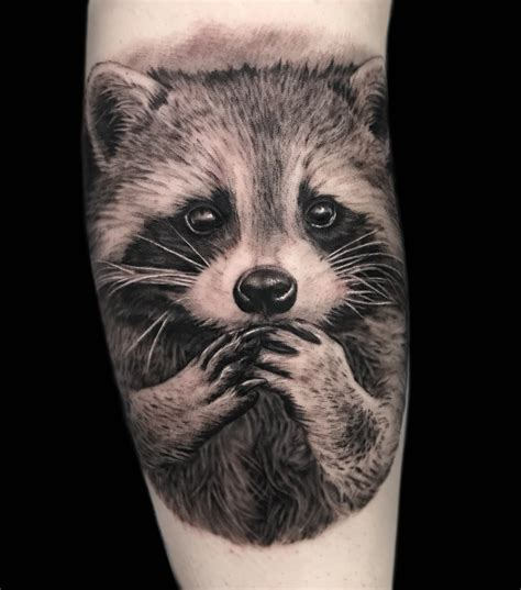 racoon tattoo sabrina elliotte tattoos