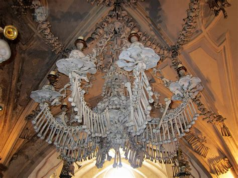 Chandelier Made Of Human Bones it out elc