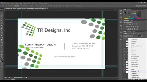 make a card in photoshop business card tutorial create your own photoshop