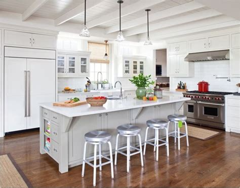 Wood Plank Ceiling Kitchen