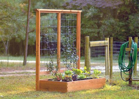 build a garden trellis how to build a raised bed and trellis hgtv