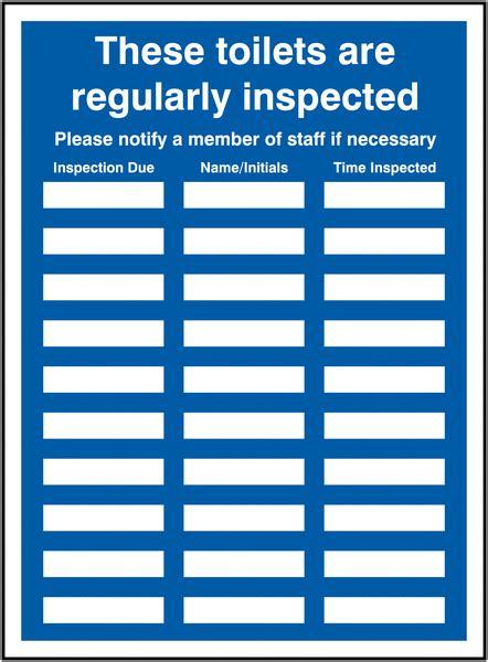 Free Printable Bathroom Signs by Toilet Inspection Update Sign Holder Seton Uk