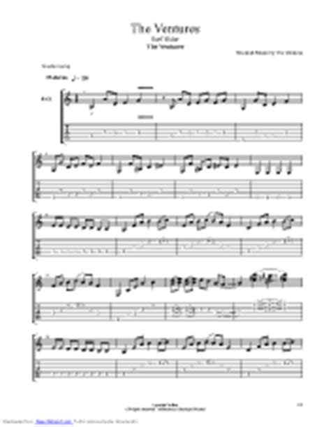 Surf Rider guitar pro tab by The Ventures @ musicnoteslib.com