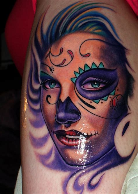 girl sugar skull tattoo sugar skull sugar skull