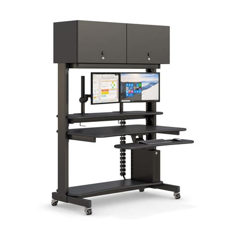 Computer Racks by Computer Rack With Overhead Cabinets Afcindustries