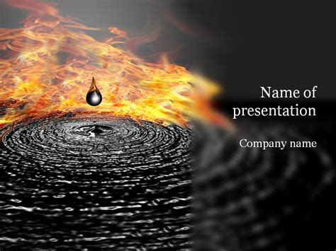 powerpoint themes oil and gas oil drop powerpoint template background for presentation