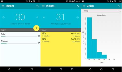 instant app for android phone instant for android lets you track your smartphone addiction levels android central