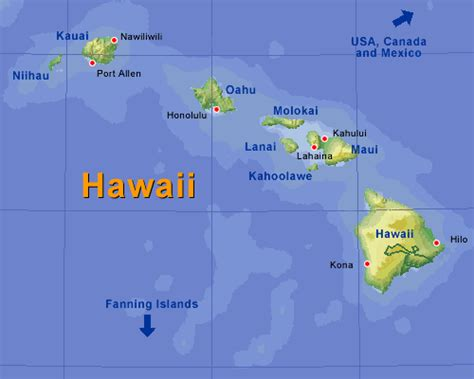 maps map hawaii