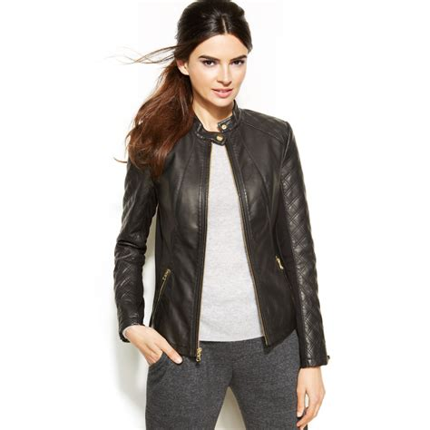 Quilted Faux Leather Jacket inc international concepts quilted faux leather moto