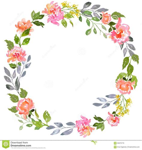 Card Flower Template by Watercolor Floral Card Template Stock Illustration