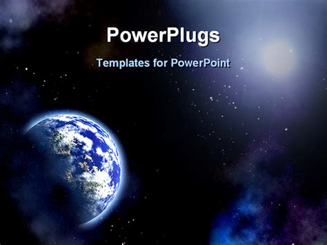templates powerpoint space space scenario earth in the space powerpoint template