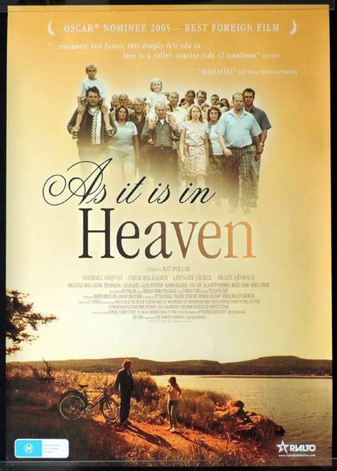 michael nyqvist as it is in heaven as it is in heaven one sheet movie poster michael nyqvist