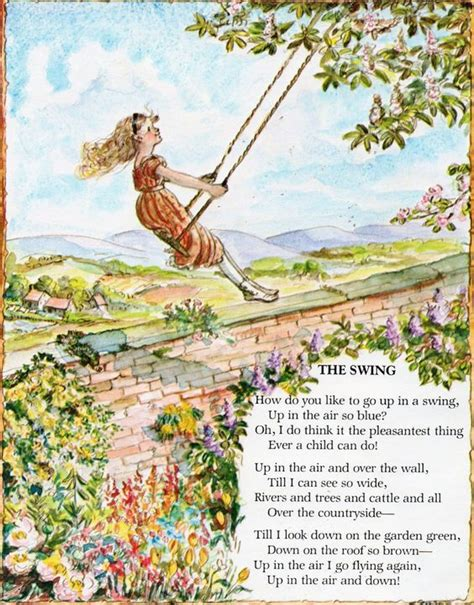 the swing poem by robert louis stevenson mom my father and thanks mom on pinterest