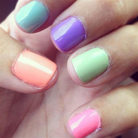 multi colored nails multi colored nails for fashion