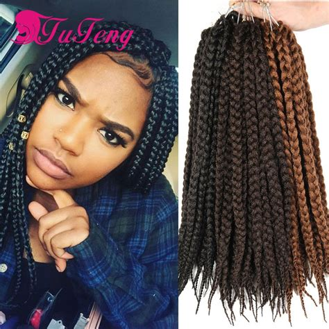 extention braid hairstyles crochet box braids 12 inch box braid extensions 80g pack