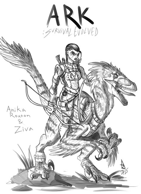 Ark Survival Evolved Oc Wip By Vicdelacruz On Deviantart Kong Coloring Page