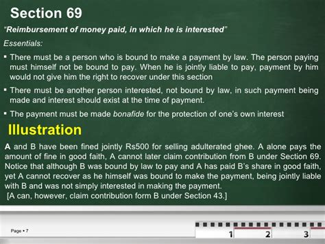 section 69 of partnership act quasi contracts business law