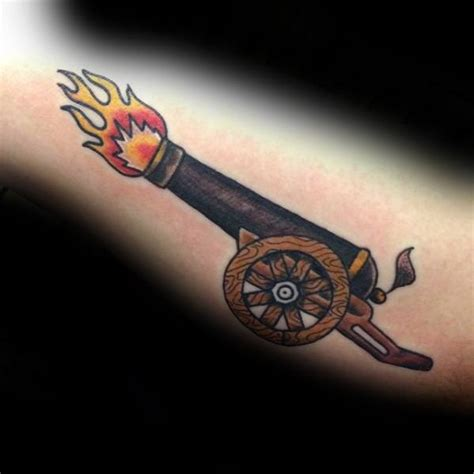 cannon tattoo 40 cannon designs for explosive ink ideas