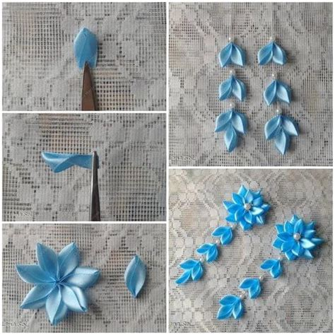 How To Make Flowers Out Of Paper Ribbon - diy make simple ribbon flowers step by step k4 craft