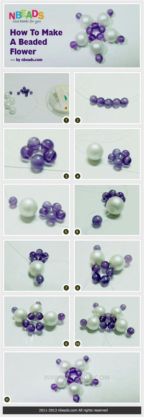 How To Make A Beaded Flower Nbeads