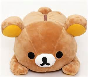 Cute Animal Mugs big on tummy lying rilakkuma plush toy brown bear kawaii