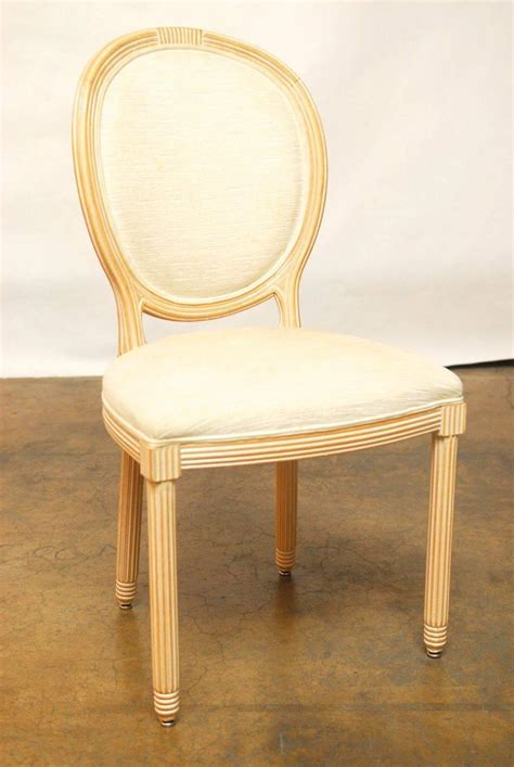 set of six white washed dining chairs at 1stdibs