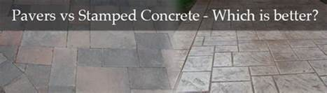 Concrete Vs Paver Patio Pavers Vs Sted Concrete Which Is Better Dallas Landscape Design Abilene Landscaping