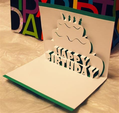 pop up card diy template happy birthday pop up card 4 75 via etsy diy crafts